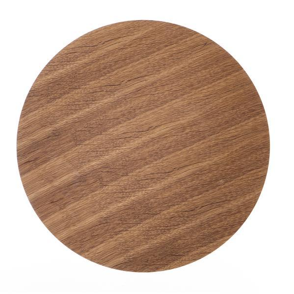 Bilde av Wire kurv topplate smoked oak small Ø 40 cm