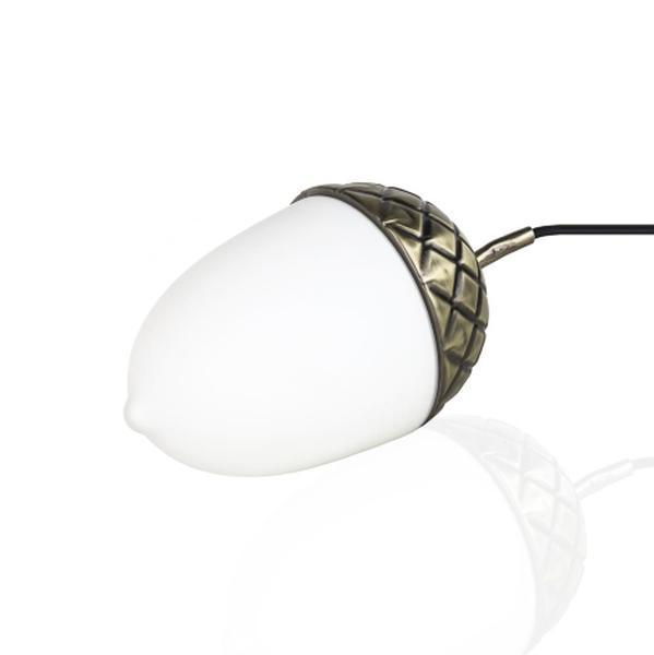 Bilde av Acorn bordlampe messing-opalglass