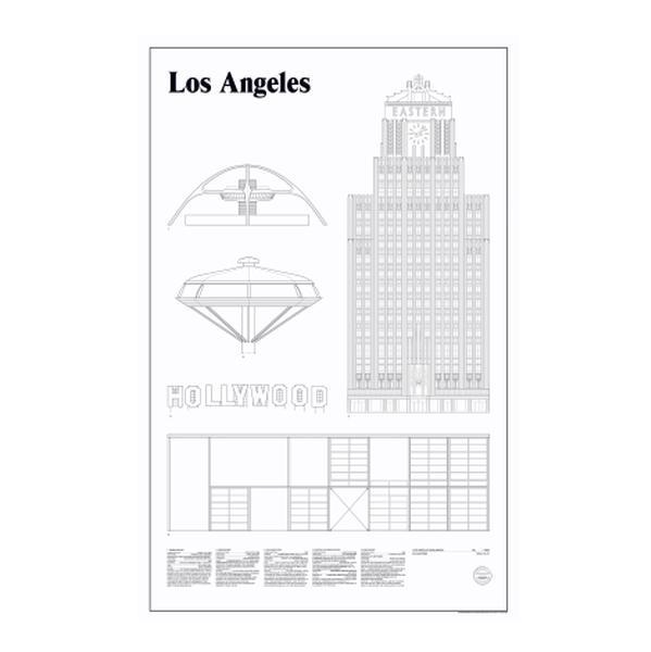 Bilde av Elevations poster 65x100 cm Los Angeles