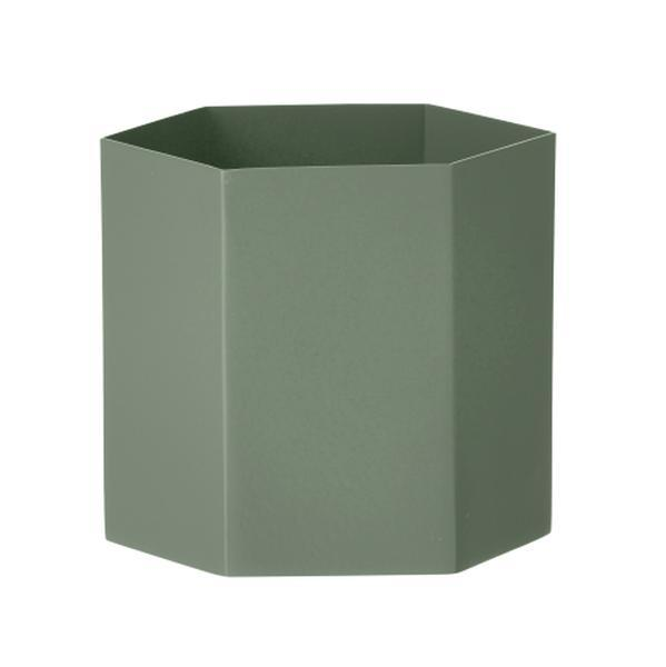 Bilde av Hexagon blomsterpotte dusty green (grønn) large